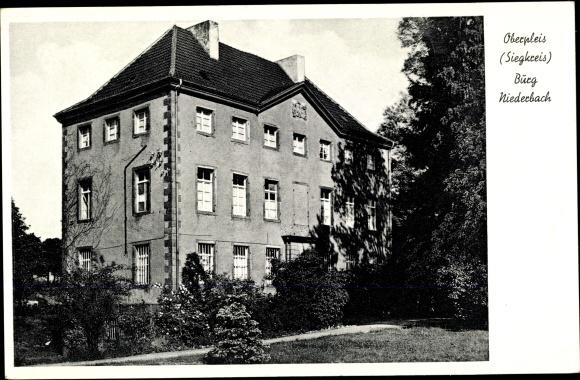 Ak Oberpleis Königswinter am Rhein, Burg Niederbach
