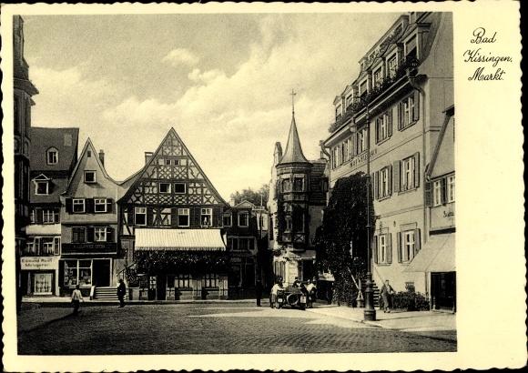 Ak Bad Kissingen Unterfranken Bayern, Markt
