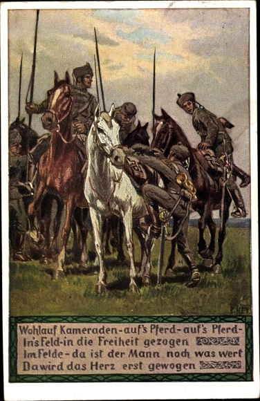 Künstler Ak Hey, Paul, Soldatenlied, Wohlauf Kameraden, Novitas 20 738