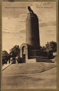 Ak Chlumec u Chabařovic Kulm Reg. Aussig, Völkerschlachten Denkmal