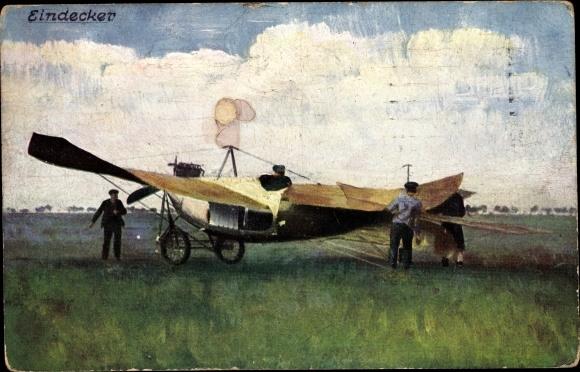 Ak Eindecker, Flugzeug, Monoplan, Flugpioniere
