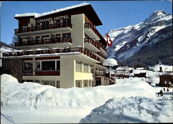 Ak Les Diablerets Ormont Dessous Kt. Waadt Schweiz, Le Grand Hôtel