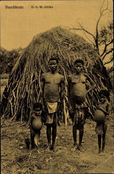Ak Deutsch Südwestafrika Namibia, Buschleute