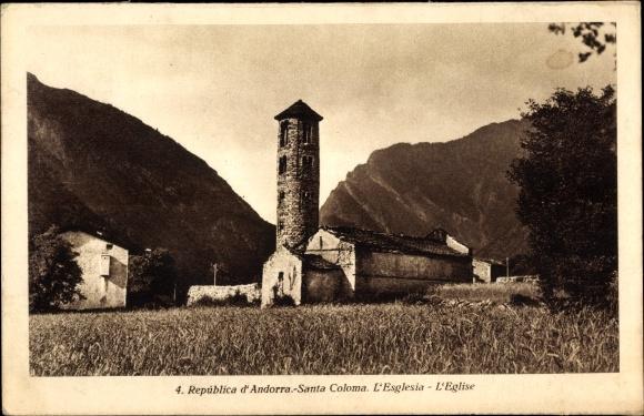 Ak Andorra, Santa Coloma, L'Esglesia