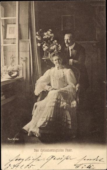 Ak Großherzog Ernst Ludwig von Hessen Darmstadt, Großherzogin Eleonore