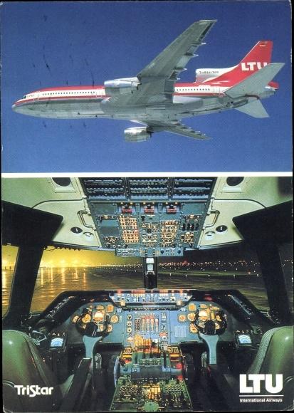 Ak Lockheed Tristar L-1011-500, LTU, Passagierflugzeug