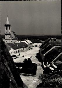 Ak Rust im Burgenland, Storchennest, Blick über die Dächer der Stadt