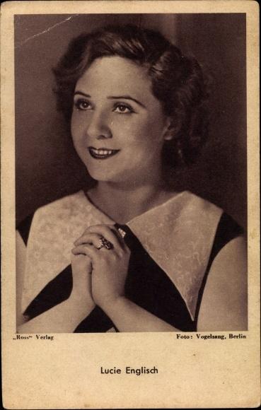 Ak Schauspielerin Lucie Englisch, Portrait, Ross Verlag