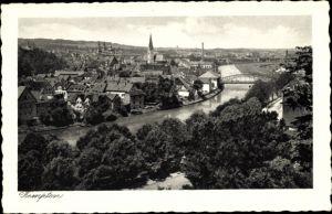Ak Kempten im Allgäu Schwaben, Panorama vom Ort