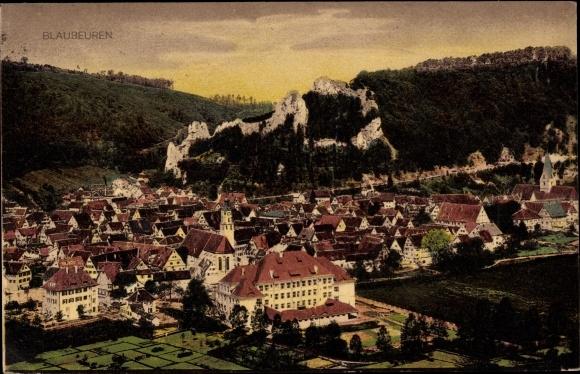 Ak Blaubeuren Baden Württemberg, Panorama vom Ort