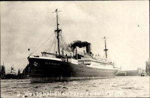 Foto Ak Dampfschiff Westphalia, HAPAG