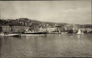 Ak Rijeka Fiume Kroatien, Veduta del Porto