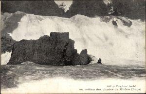 Ak Laos, Rocher isolé au milieu des chutes de Khône
