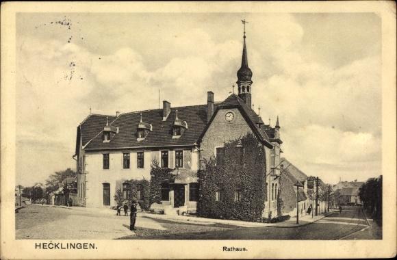Ak Hecklingen im Salzlandkreis, Rathaus