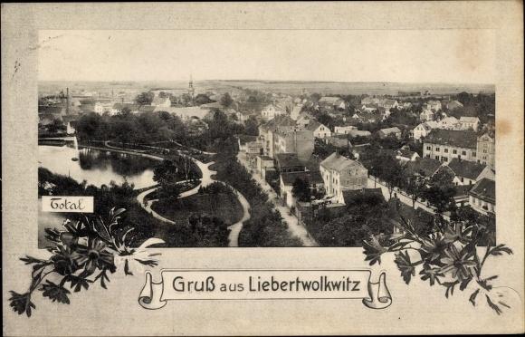 Ak Liebertwolkwitz Leipzig in Sachsen, Blick über die Dächer der Stadt