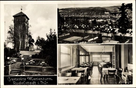 Ak Rudolstadt in Thüringen, Gaststätte Marienturm