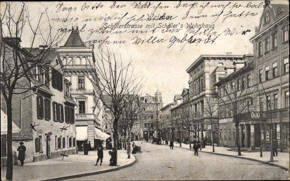 Ak Weimar in Thüringen, Schillerstraße, Schillers Wohnhaus
