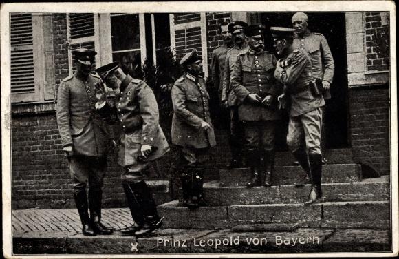 Ak Prinz Leopold von Bayern, Generalkommando des 1. bayr. Res Korps