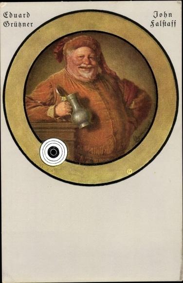 Künstler Ak Grüßner, Eduard, John Falstaff, Shakespeare