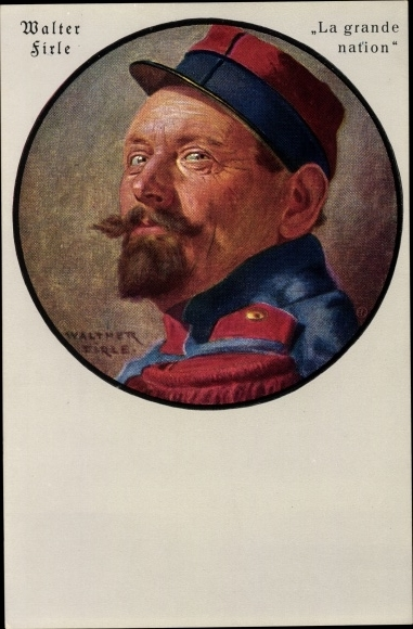 Künstler Ak Firle, Walther, La grande nation, Französischer Soldat
