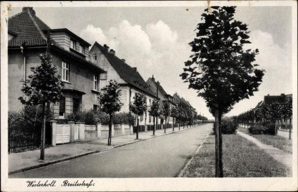 Ak Westerholt Herten Ruhrgebiet, Breitestraße, Straßenpartie