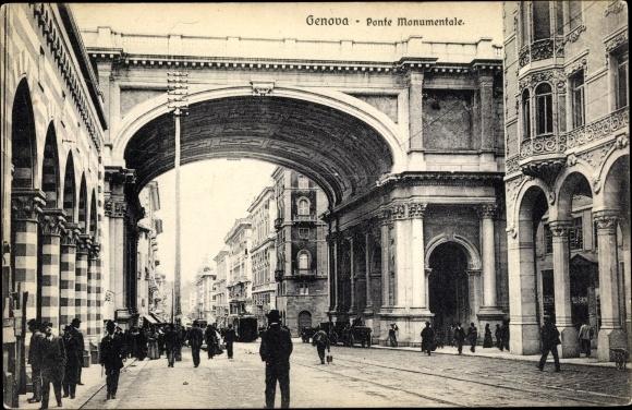 Ak Genova Genua Ligurien, Ponte Monumentale