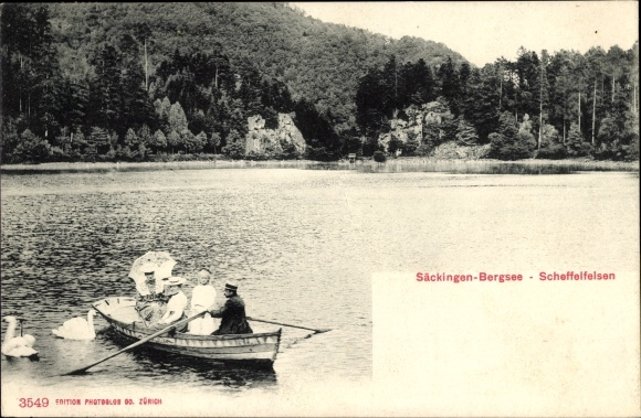 Ak Bad Säckingen am Hochrhein, Bergsee, Scheffelfelsen