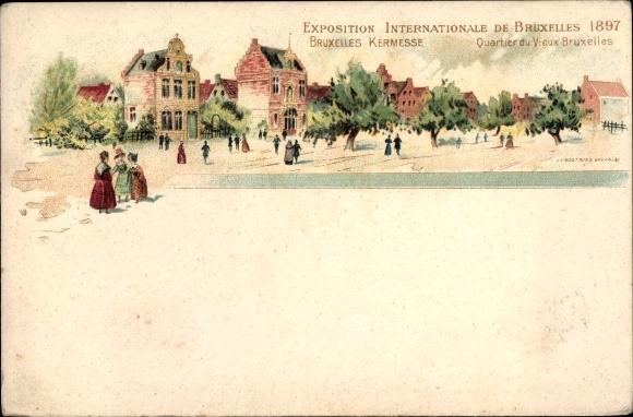 Litho Bruxelles Brüssel, Exposition Internationale 1897, Kermesse
