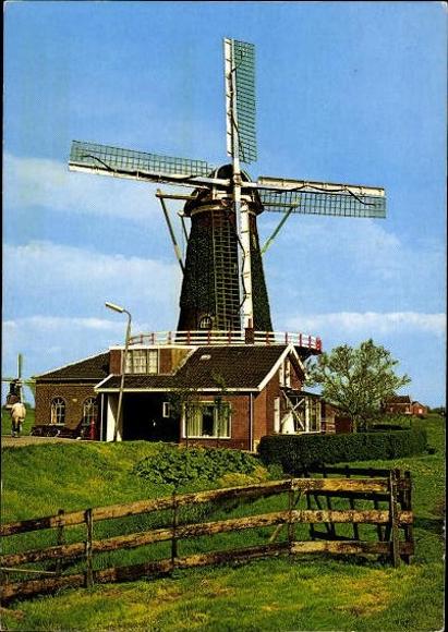 10 alte Ak Windmühlen, diverse Ansichten