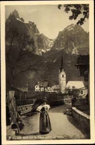 Ak Siusi allo Sciliar Seiss am Schlern Kastelruth Südtirol, Straßenpartie