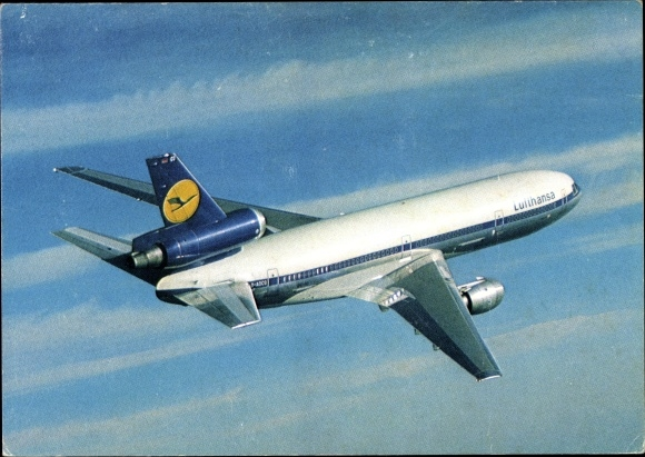 Ak Lufthansa Douglas DC 10, D ADCO, Passagierflugzeug