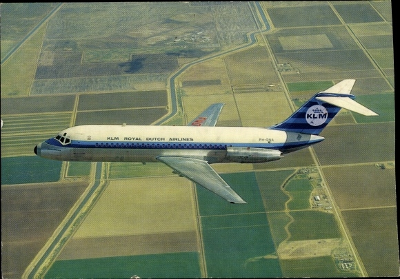 Ak Passagierflugzeug, KLM, Douglas DC 9