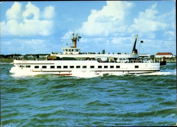 Ak Norderney in Ostfriesland, Fährschiff Frisia I, Reederei Norden Frisia