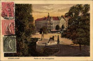Ak Düsseldorf am Rhein, Partie an der Königsallee