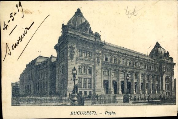 Ak București Bukarest Rumänien, Post