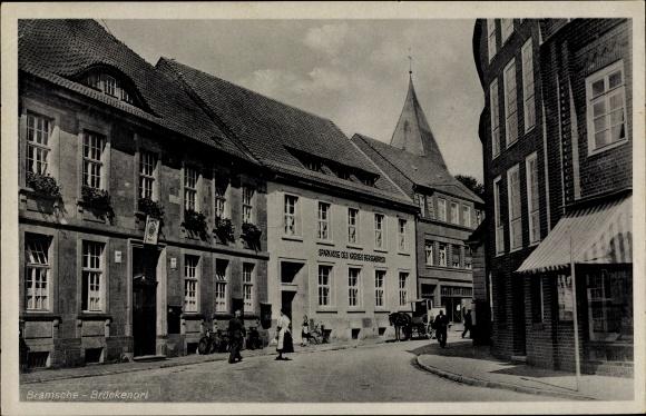 Ak Bramsche in Niedersachsen, Brückenort, Sparkasse des Kreises Bersenbrück