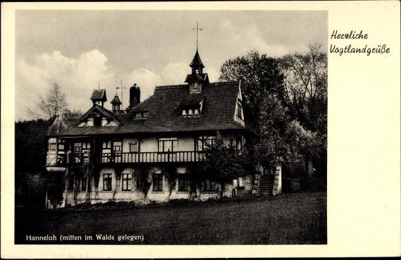 Ak Jagdschloss Hanneloh, Villa, Vogtlandgrüße