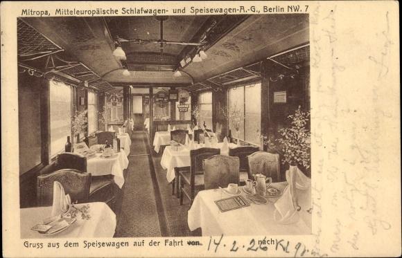 Ak Deutsche Eisenbahn, Gruß aus dem Speisewagen, Mitropa Schlafwagen und Speisewagen AG