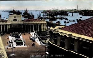 Ak Colombo Ceylon Sri Lanka, Jetty, Harbour