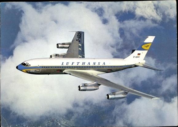 Ak Passagierflugzeug, Lufthansa, Boeing Jet 720 B, D ABOH