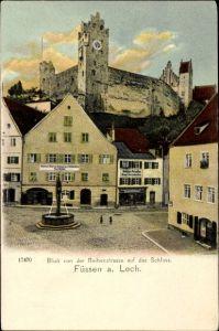 Ak Füssen im Ostallgäu, Blick zum Schloss