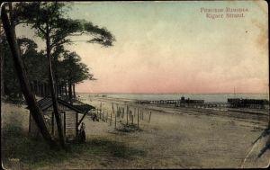 Ak Jūrmala Rigaer Strand Lettland, Strandpartie