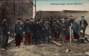 Ak Wünsdorf Zossen Brandenburg, Gefangenenlager, Kriegsgefangene, I. WK