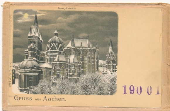 Litho Aachen in Nordrhein Westfalen, Dom, Südseite