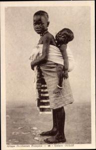 Ak Afrique Occidentale française, AOF, Enfants Oulof