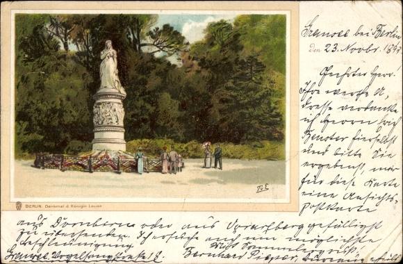 Künstler Litho Eckenbrecher, Themistokles von, Berlin Tiergarten, Denkmal Königin Louise