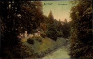 Ak Kroměříž Kremsier Reg. Zlin, Schlossgarten