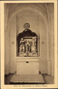 Ak Füssen im Ostallgäu, Altar der Hauskapelle im Schloss Füssen