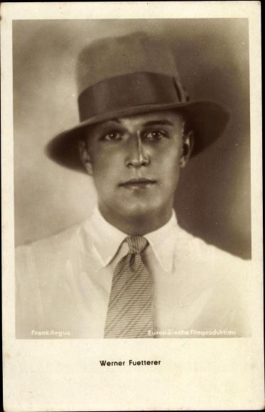 Ak Schauspieler Werner Fuetterer, Portrait m. Hut