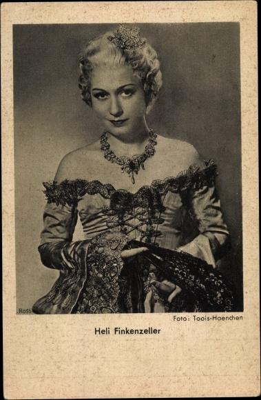 Ak Schauspielerin Heli Finkenzeller, Portrait